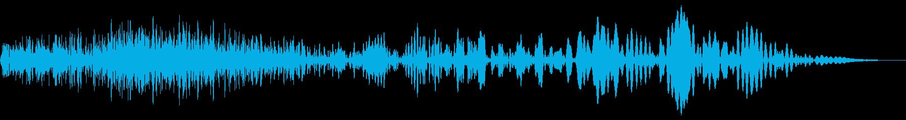 メカ挙動音、衝撃音(ガチャ、ゴー)の再生済みの波形