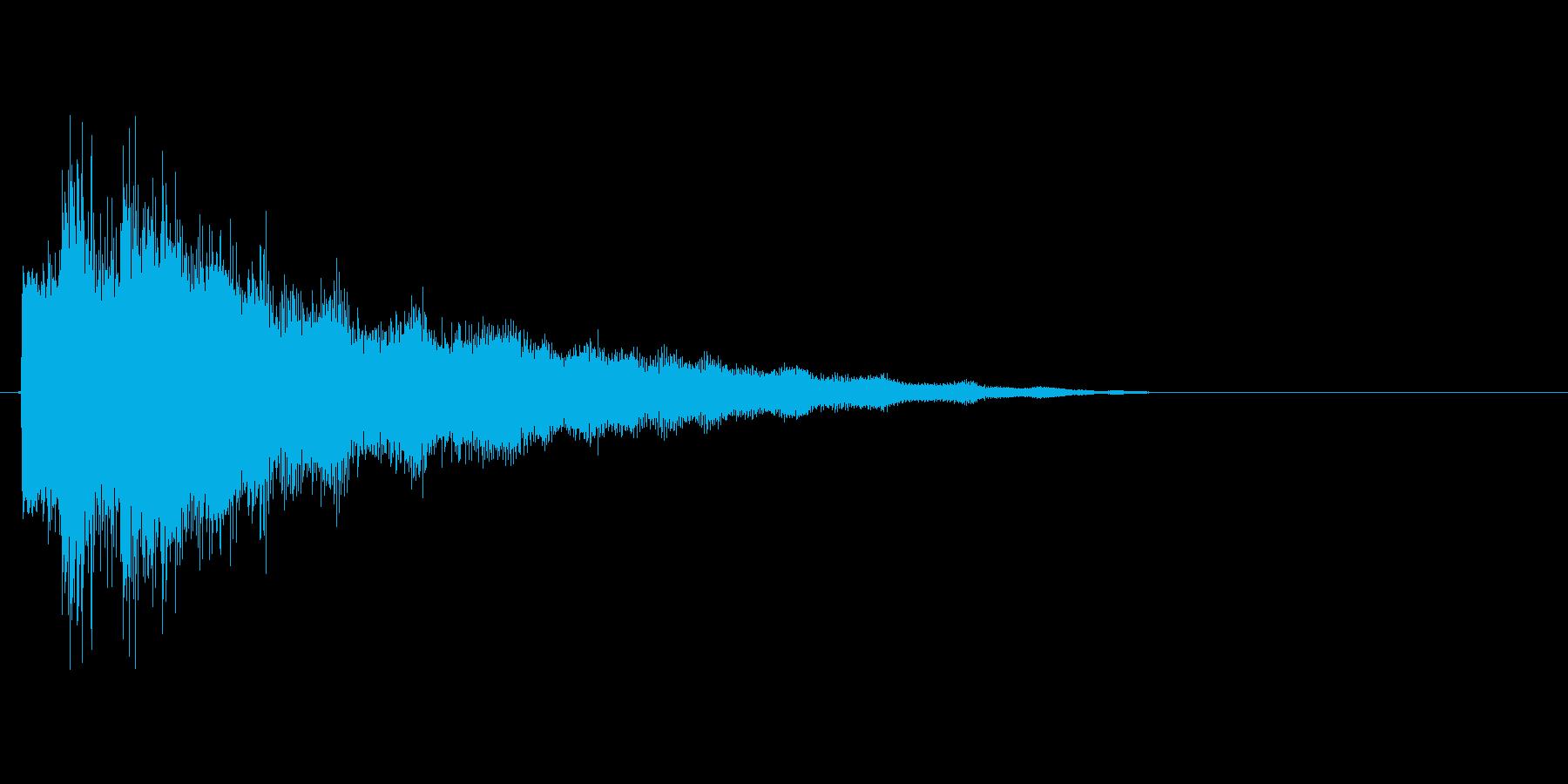キラキラしたゲーム、アプリ向けスタート音の再生済みの波形
