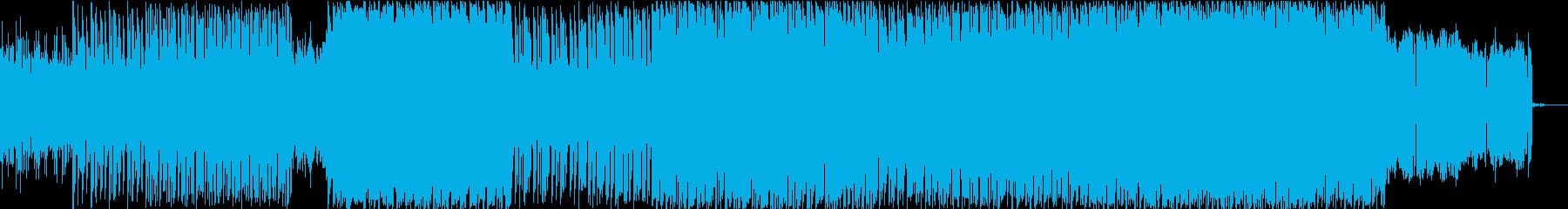 シリアスでダークな激しめイメージの再生済みの波形