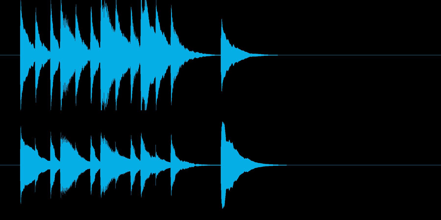 シンプルなマリンバのジングルの再生済みの波形