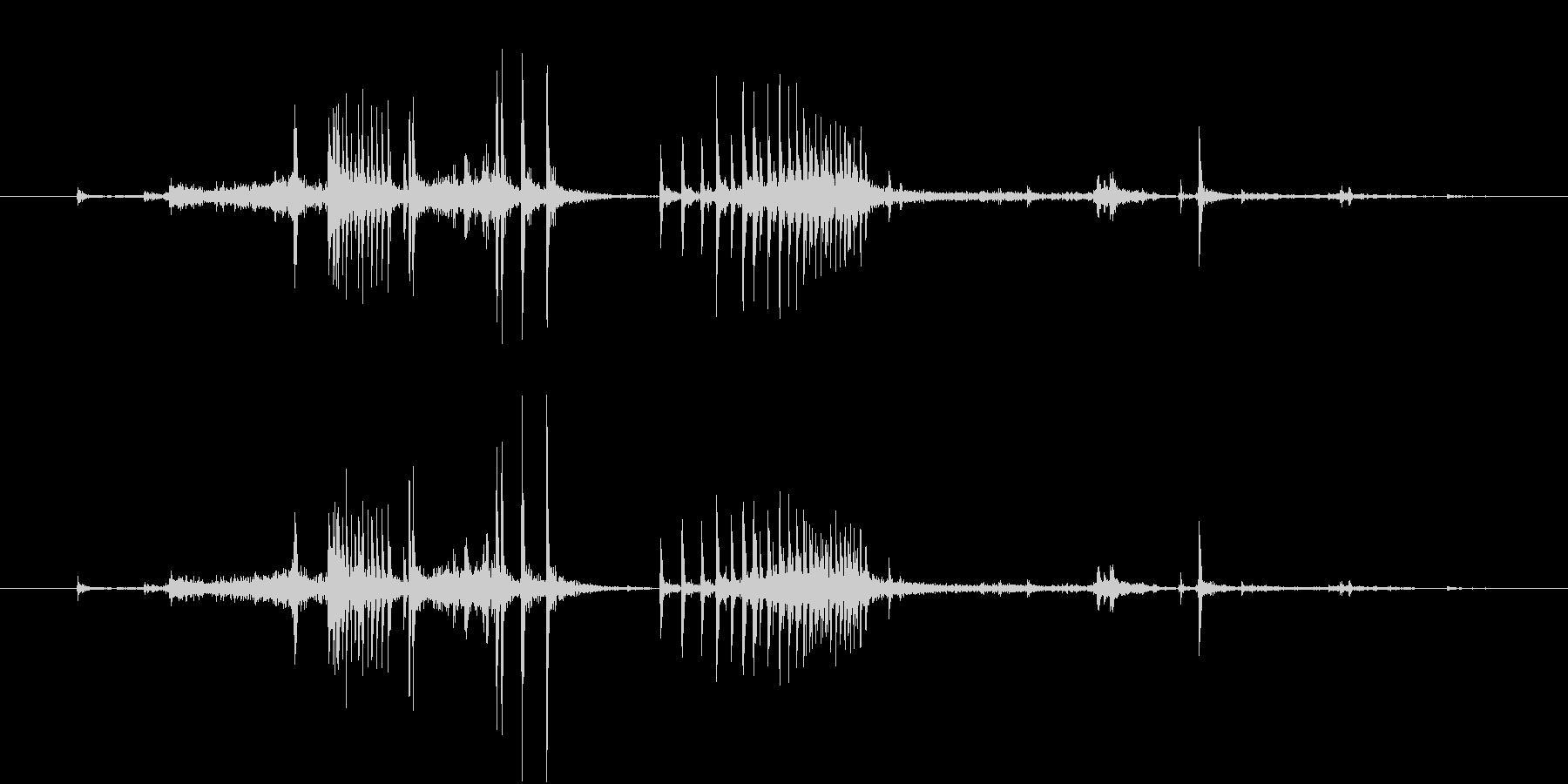 【生録音】弁当・惣菜パックの音 12の未再生の波形