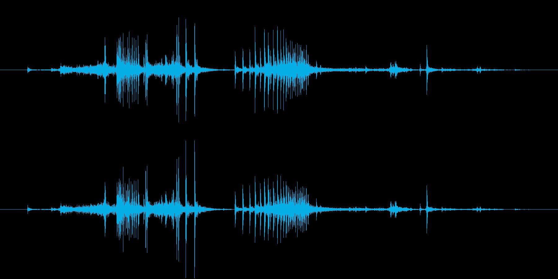 【生録音】弁当・惣菜パックの音 12の再生済みの波形