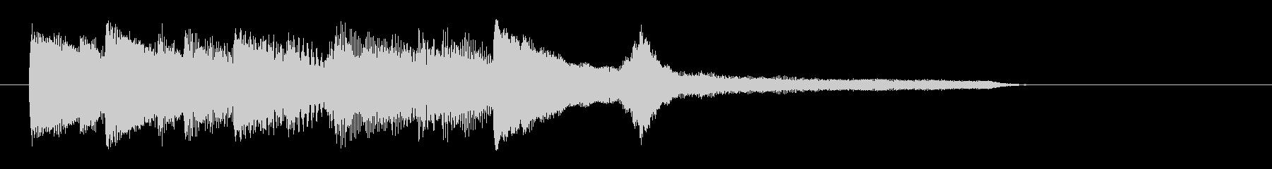 シンプルで美しいピアノのジングルの未再生の波形