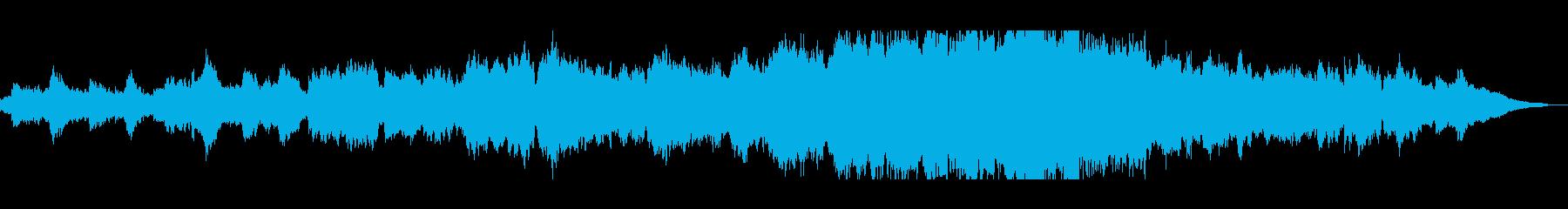 悠長で穏やかなヒーリングミュージックの再生済みの波形