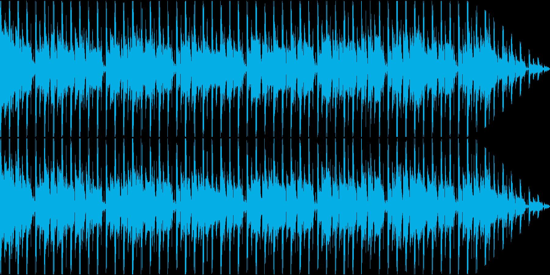 シンプルでファンキーなテクノハウスの再生済みの波形