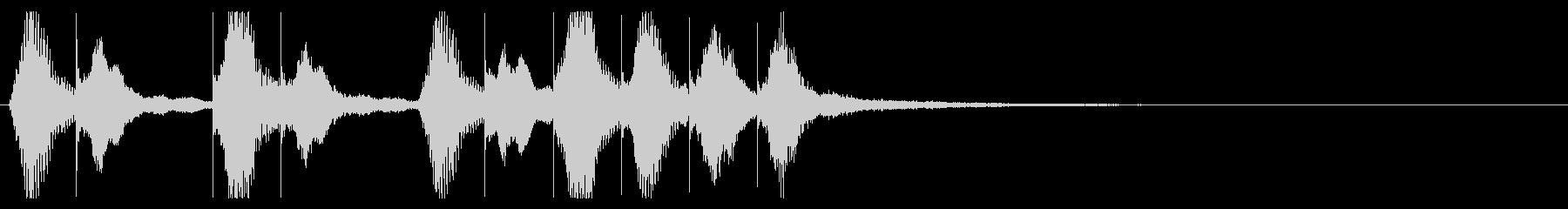 グロッケンと弦楽器のポップなジングルの未再生の波形