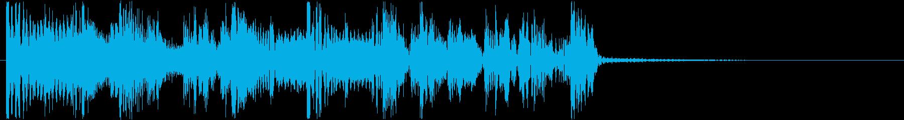 サイバーなイメージのHIPHOPジングルの再生済みの波形