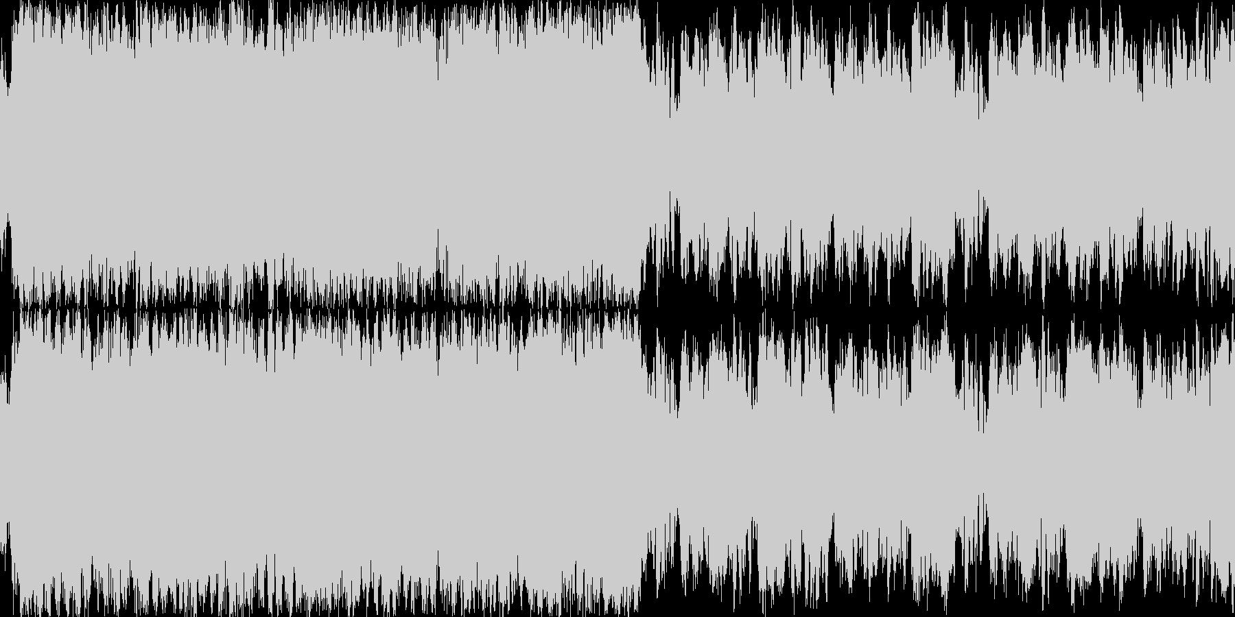近未来的でパワフルなファンタジーBGMの未再生の波形