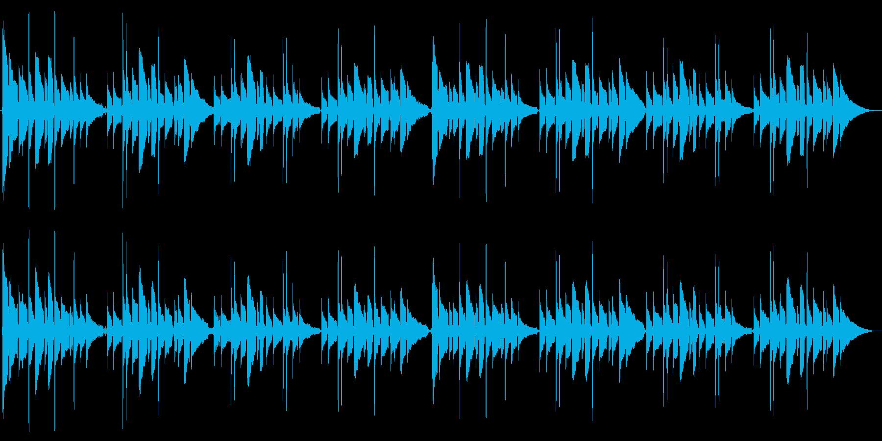アコースティックギター独奏「蛍の光」の再生済みの波形