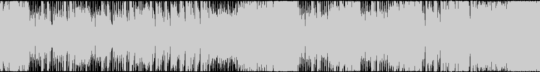 ハロウィン・ホラー・重々しい楽曲の未再生の波形