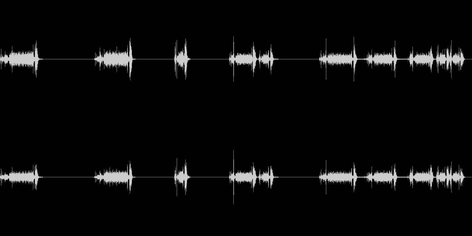 電話、アンティーク、ナンバーディスクx5の未再生の波形
