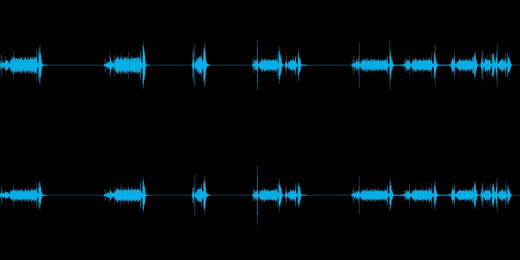 電話、アンティーク、ナンバーディスクx5の再生済みの波形