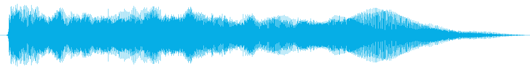 エレクトリックギター:曲げパワーコードの再生済みの波形