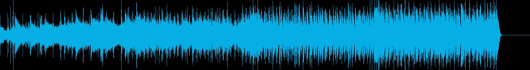 ラテンのリズムを取り入れた爽やかな曲の再生済みの波形