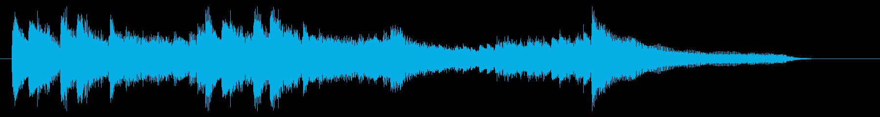 華麗で勢いのあるピアノジングル 13秒の再生済みの波形