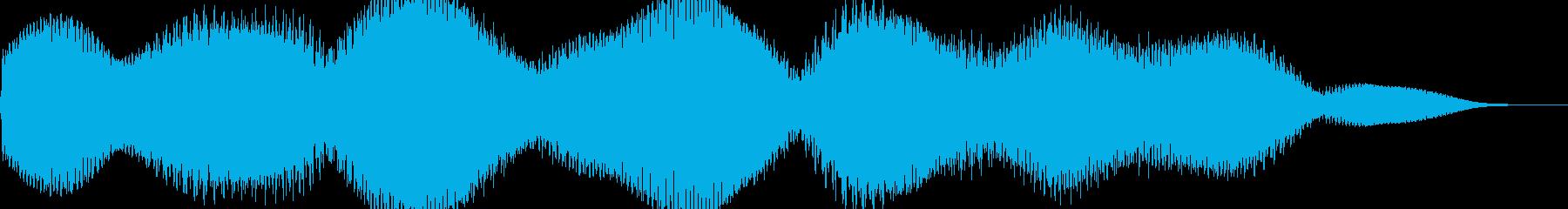 モワーンモワーンってやつですの再生済みの波形