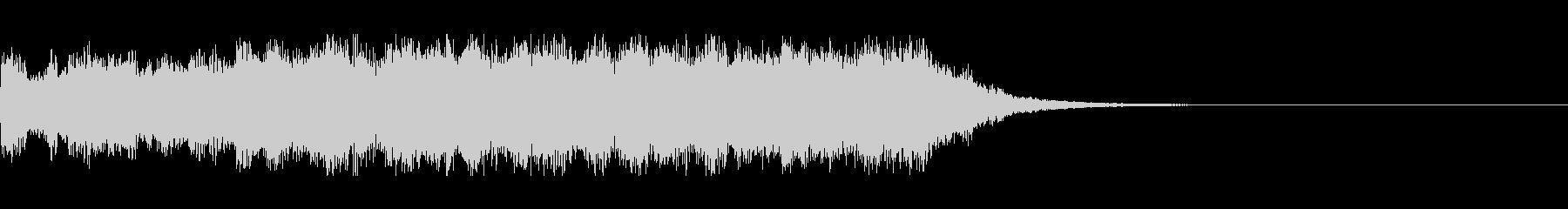 ホラーな効果音の未再生の波形