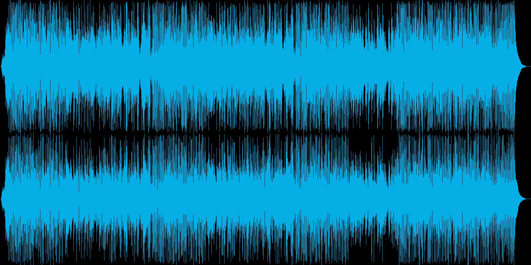 番組オープニングなどに。爽やかで軽快な曲の再生済みの波形
