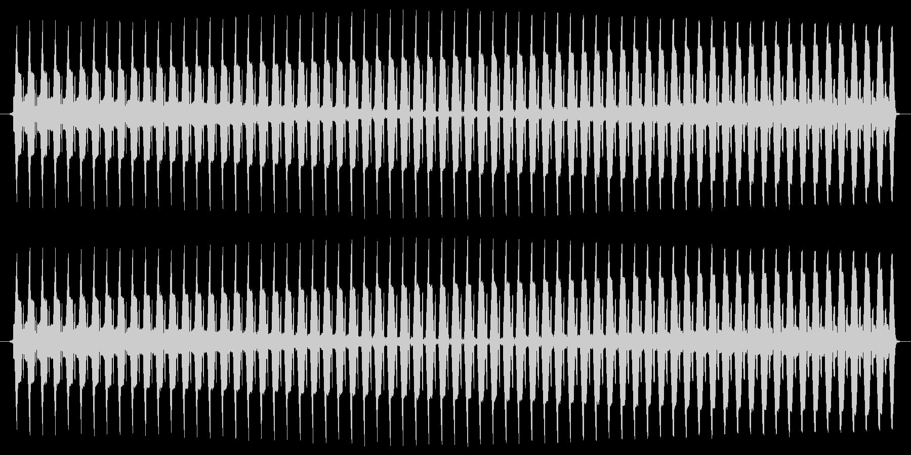 ヴー。クイズ不正解・ブザー音の未再生の波形