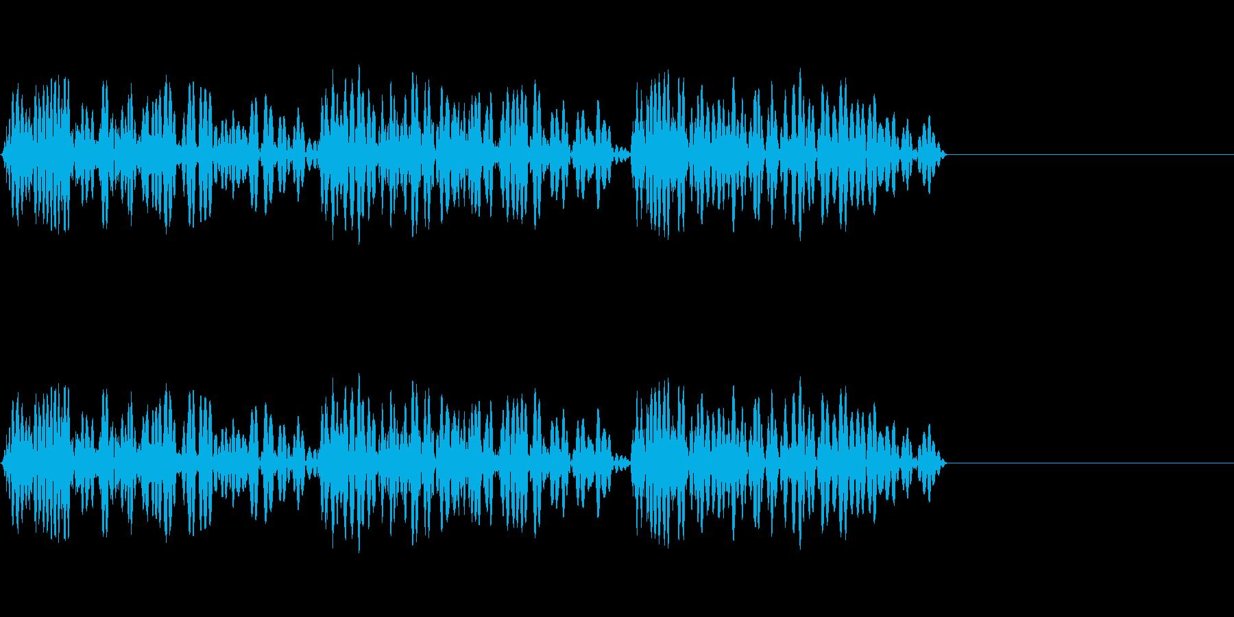 ドンドンドンとドアを叩く音の再生済みの波形