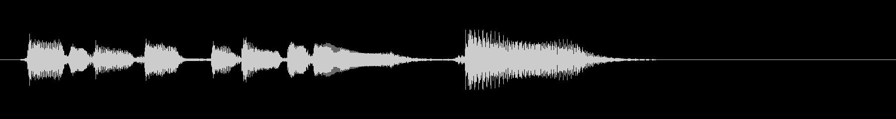 アコースティックギター 場面転換➁ ソロの未再生の波形