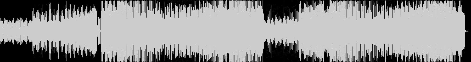 スピード感のあるポップハウス曲の未再生の波形