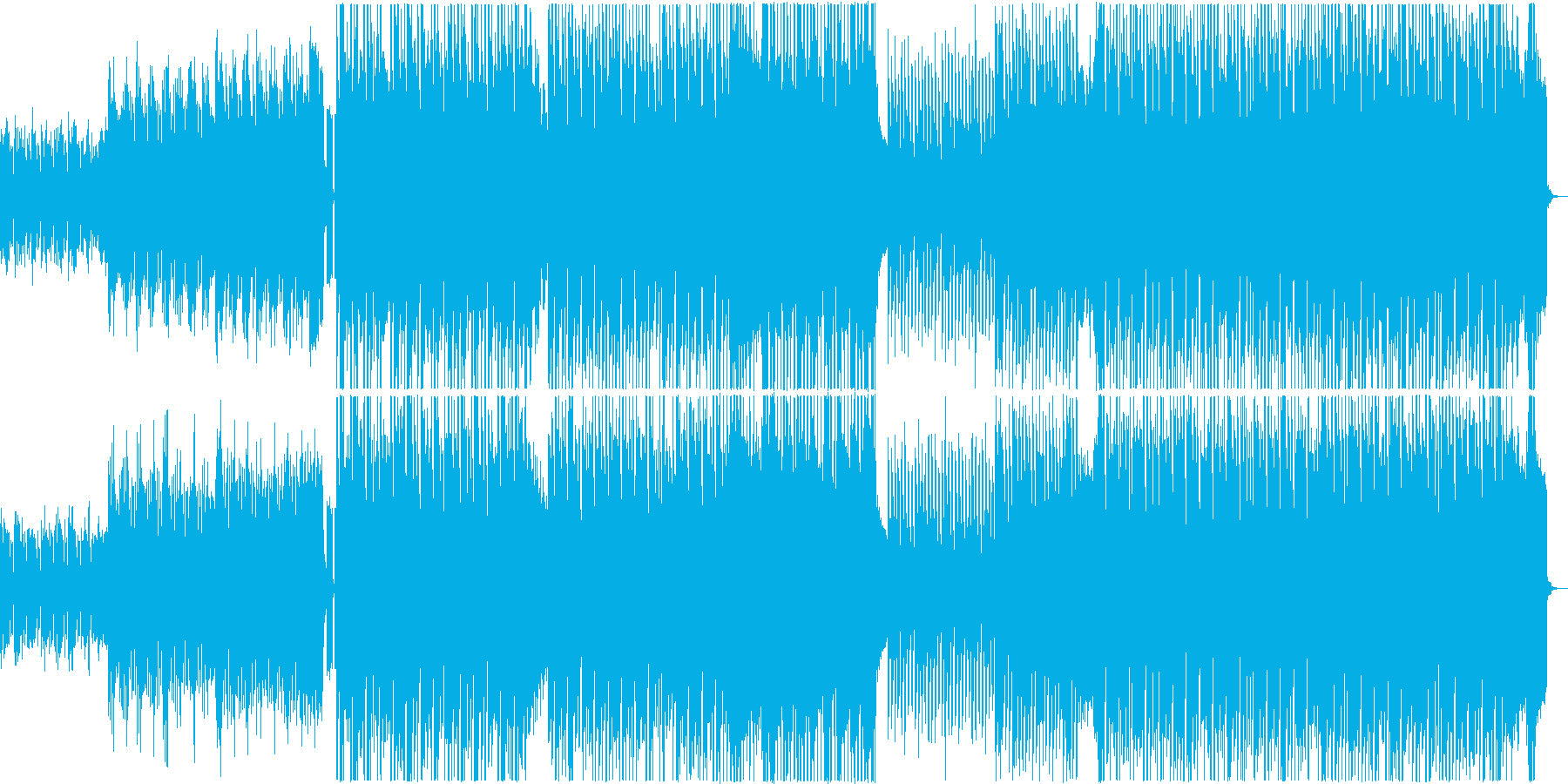 スピード感のあるポップハウス曲の再生済みの波形