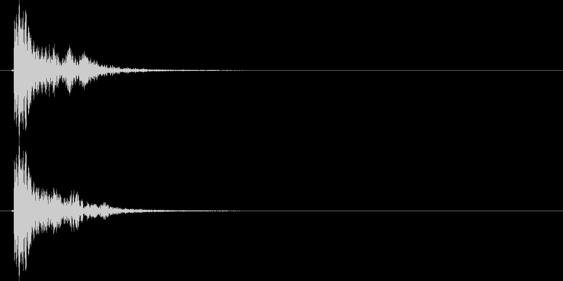 NG,キャンセル音(ボッ)の未再生の波形