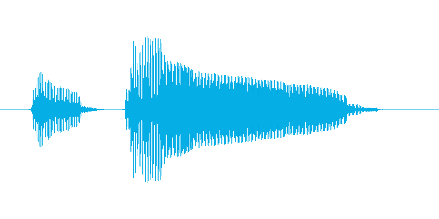 ピンポーンの再生済みの波形