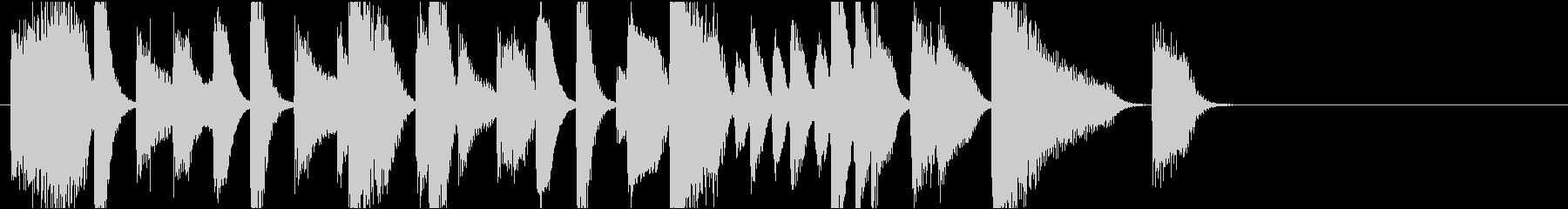 ジングル おしゃれでクールなジャズピアノの未再生の波形