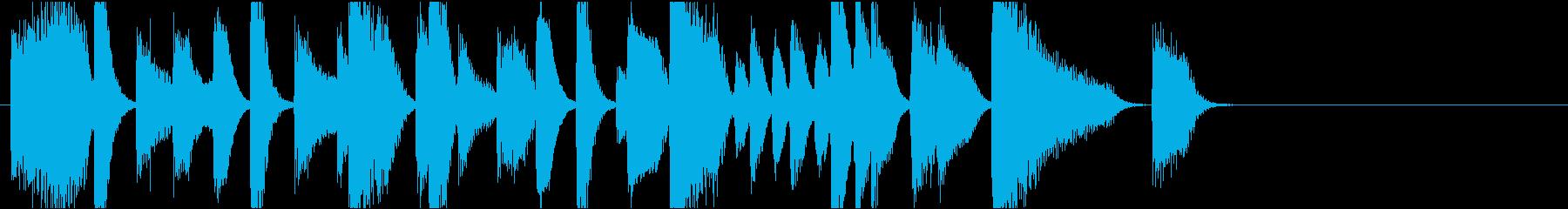 ジングル おしゃれでクールなジャズピアノの再生済みの波形