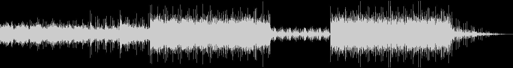 マリンバを多用した異国風音楽の未再生の波形