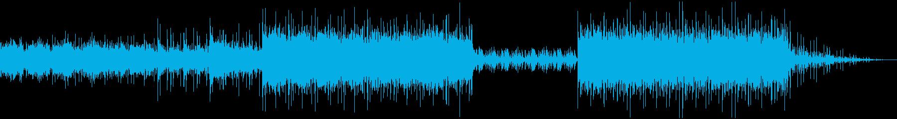 マリンバを多用した異国風音楽の再生済みの波形