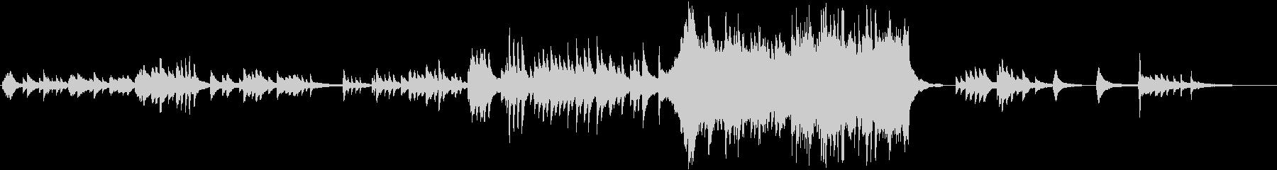 感動的なピアノバラード曲の未再生の波形