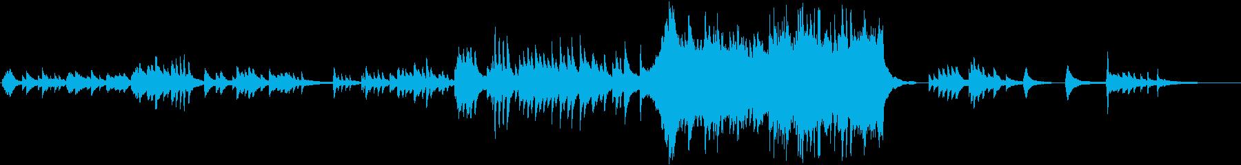 感動的なピアノバラード曲の再生済みの波形