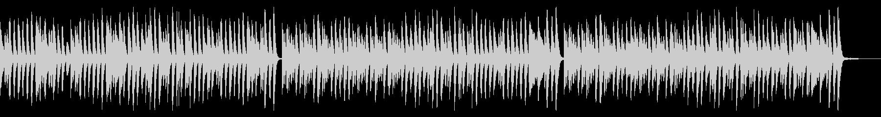 クリスマス定番曲のラグタイムアレンジの未再生の波形