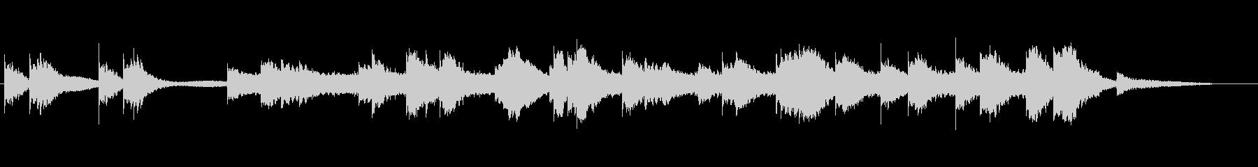 冷ややかなピアノのBGMの未再生の波形