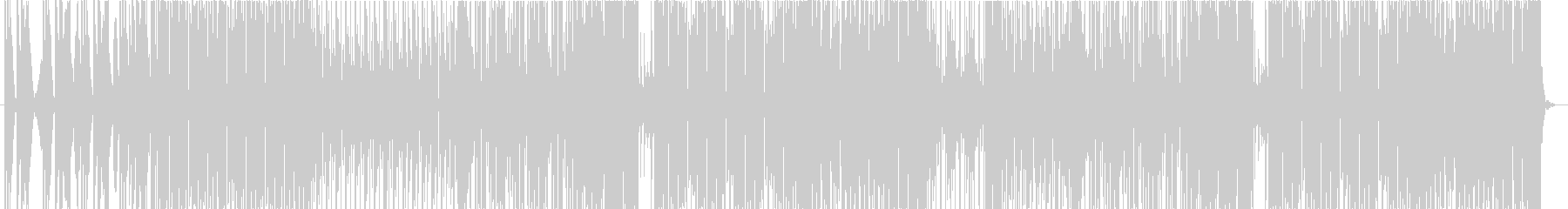 80's風イケてるテクノポップの未再生の波形