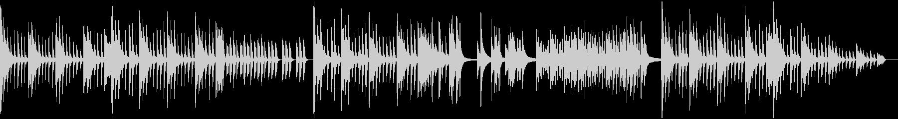 深く神秘的なピアノソロの未再生の波形