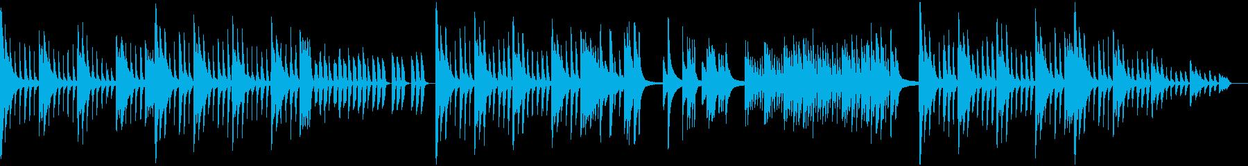 深く神秘的なピアノソロの再生済みの波形