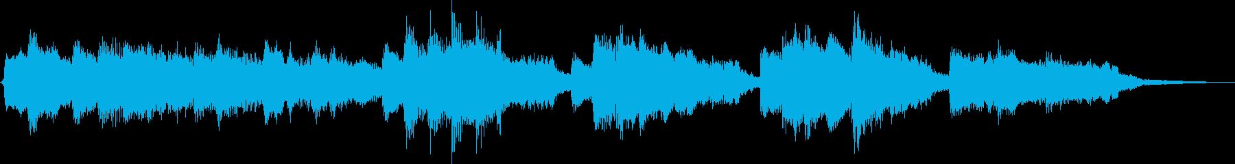 ピアノとストリングスの切なく高貴なBGMの再生済みの波形
