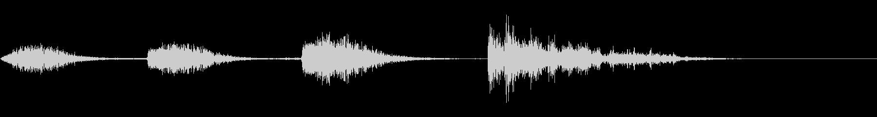 爆発2:4つの異なる爆発の未再生の波形