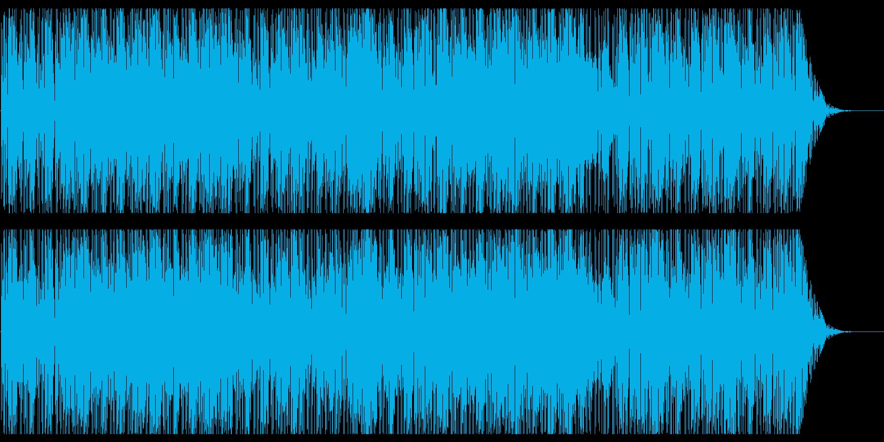モダンでお洒落なファンク風ダンス曲の再生済みの波形