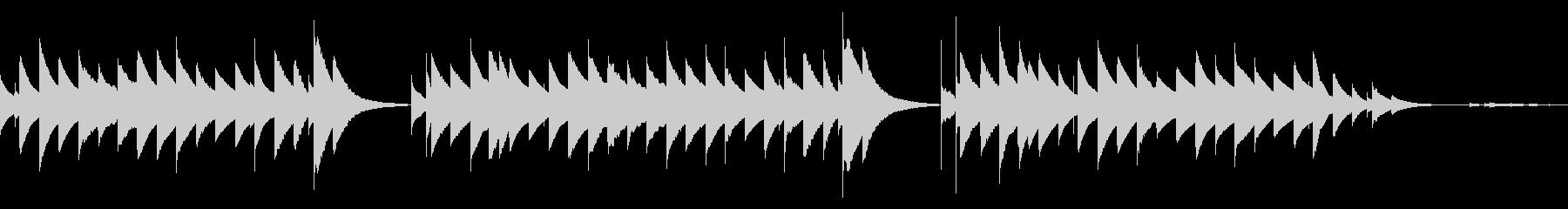 シンプルなオルゴールアレンジの未再生の波形