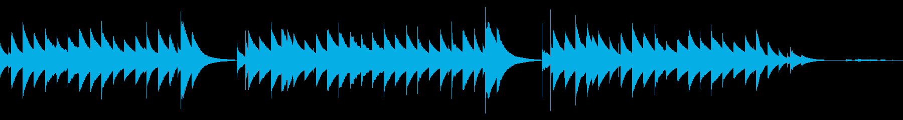 シンプルなオルゴールアレンジの再生済みの波形