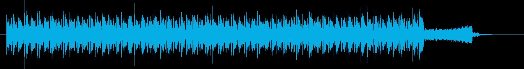 激しいトランスBGMの再生済みの波形