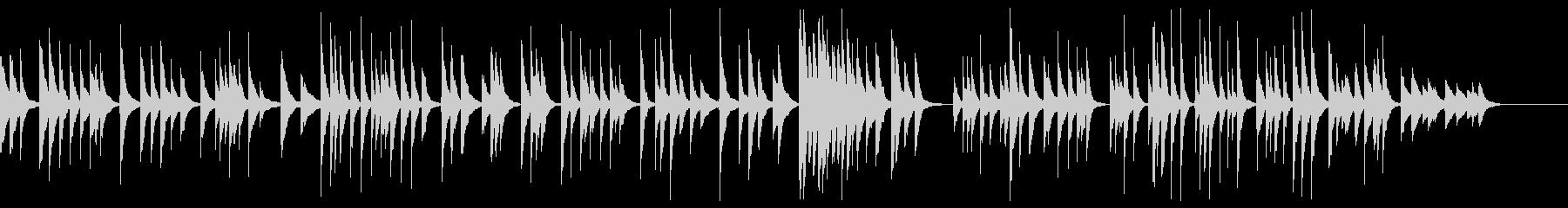 箏 ソロ 伝統的な和風曲の未再生の波形
