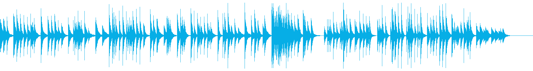 箏 ソロ 伝統的な和風曲の再生済みの波形