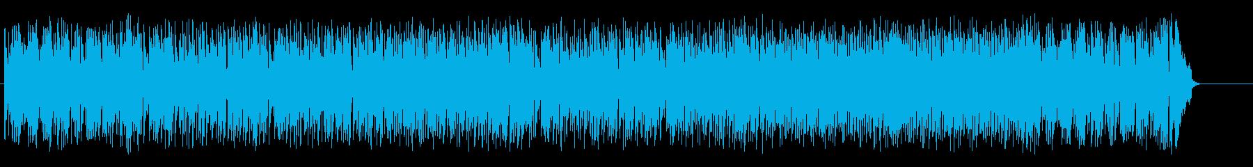 青空が爽快な交通情報向けフュージョンの再生済みの波形