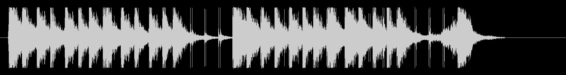 ファンキー、エネルギッシュ!リズムロゴの未再生の波形